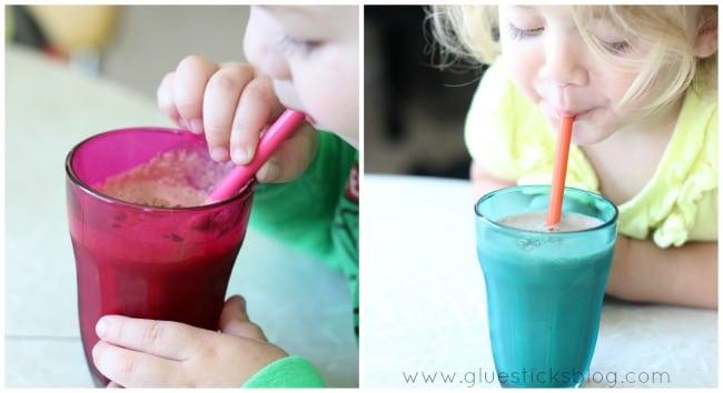 toddler drinking shake
