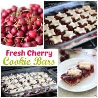 Fresh Cherry Cookie Bars