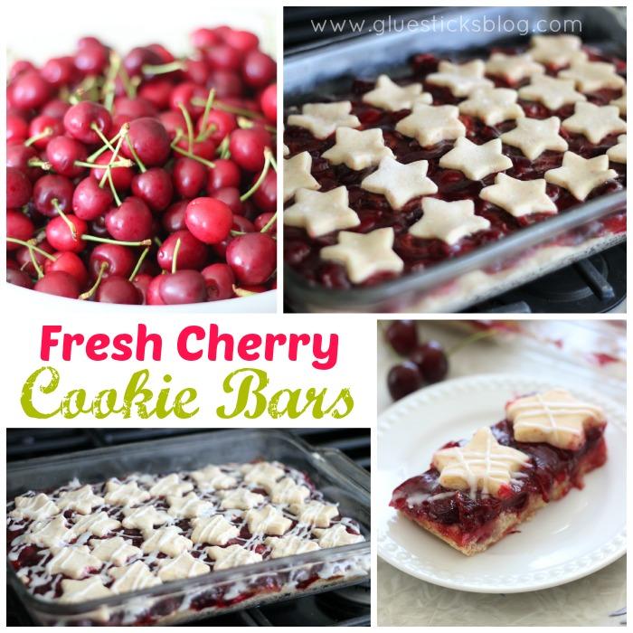 Fresh cherry cookie bars gluesticks for Food network 50 bar cookie recipes