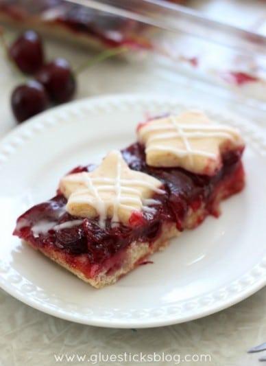 Fresh Cherry Cookie Bars 2