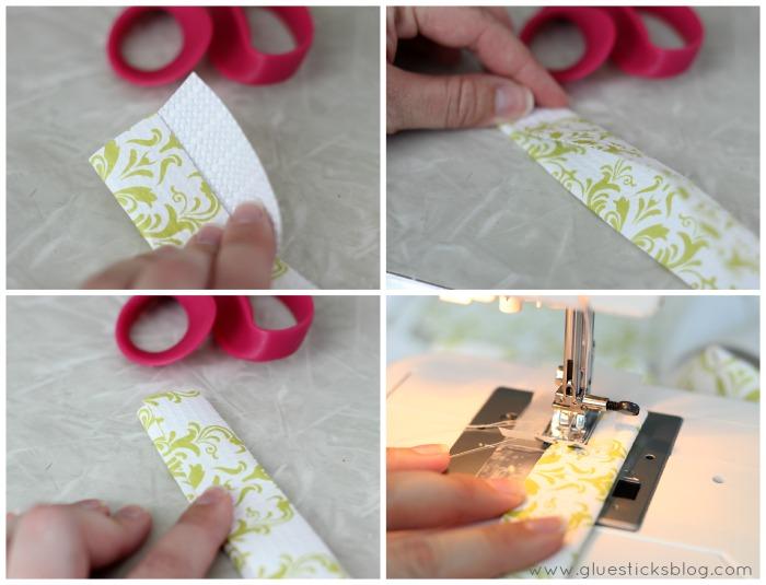 hand folding shelf liner to make a handle
