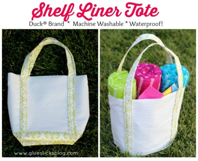 tote made from shelf liner paper