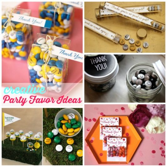 Creative Party Favor Ideas