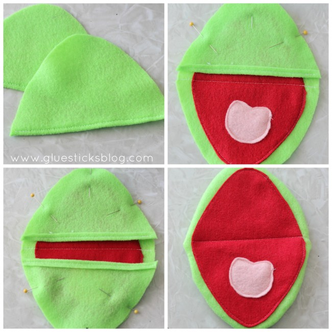 Make a Kermit the Frog puppet with this easy hand puppet pattern! You an use it to create so many fun characters out of felt! A quick sewing project for beginners.