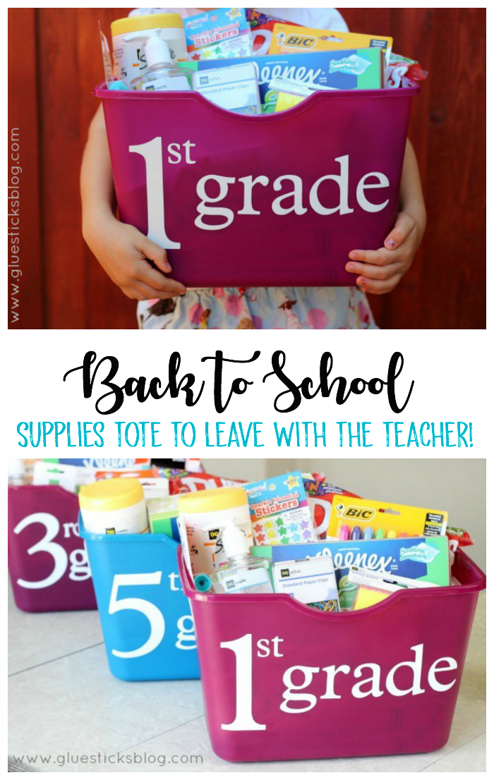 tote with school stupples