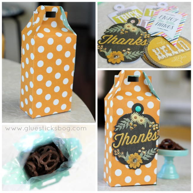 How to make chocolate covered pretzels to give as a gift in a cute box! Step by step recipe tutorial and ideas for homemade treat boxes.