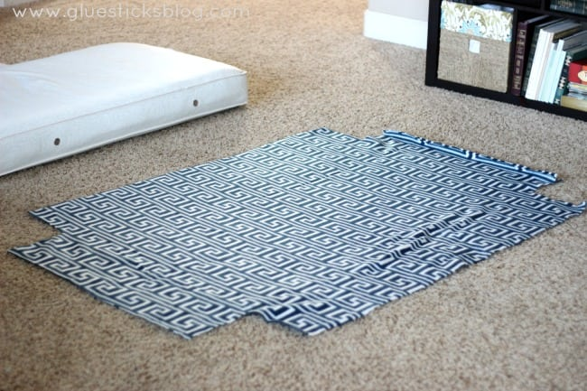 fleece cut for dog bed cover