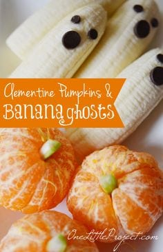 bananas and oranges for halloween class parties