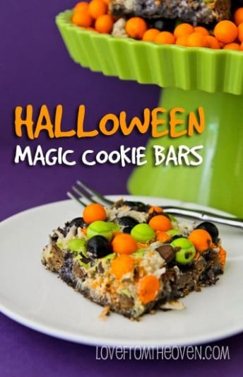 halloween magic cookies bars
