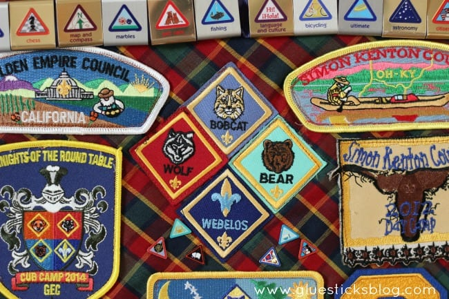Cub Scout Patches Display