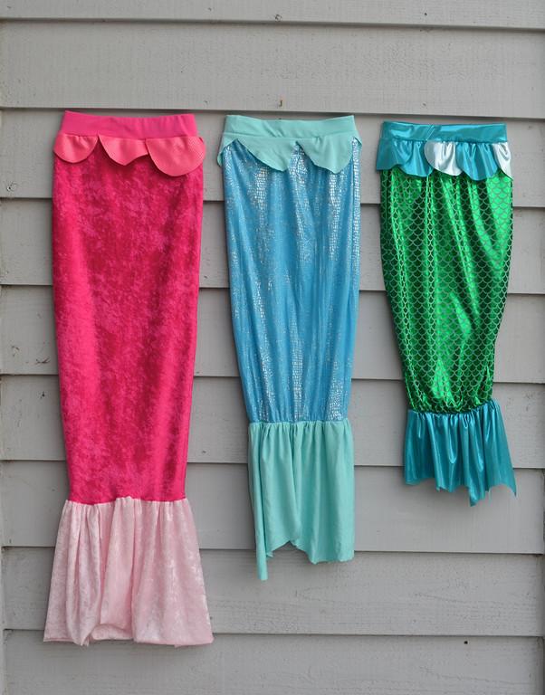 3 mermaid tail costumes