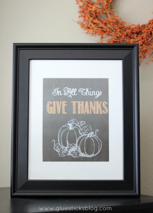 framed fall printable