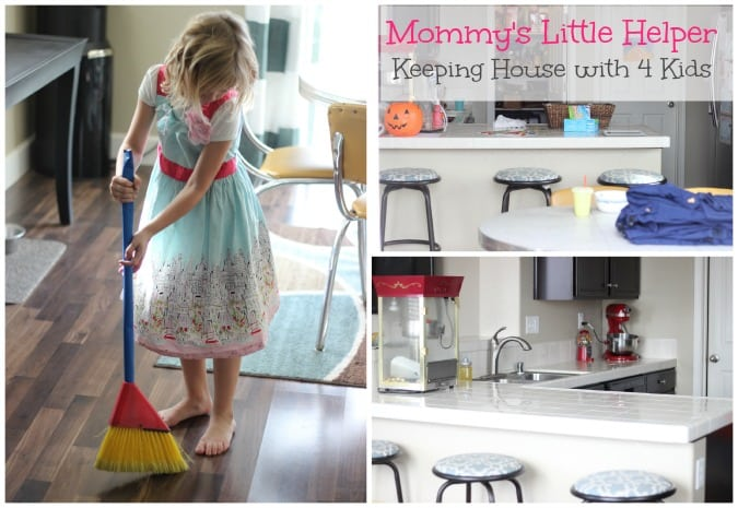 Mommys Little Helper Keeping a Clean House