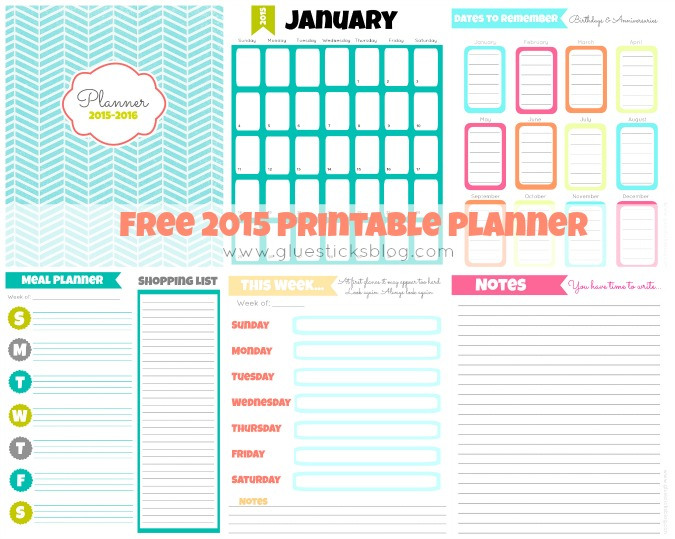 ... - 10 free printable calendars and planners for 2015 - Kiddie Foodies