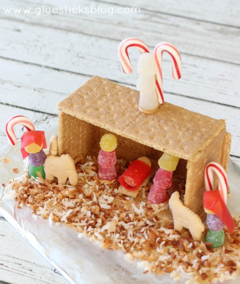 graham cracker nativity