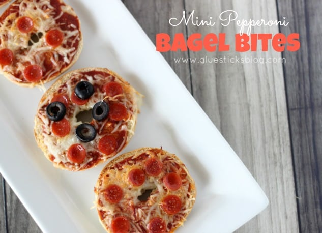 Mini Pepperoni Bagel Bites for Kids