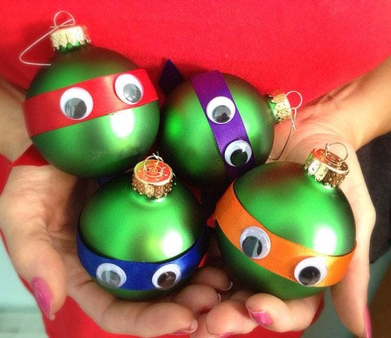 ninja turtle ornaments for kids to make as gifts