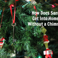 how does santa get into homes without a chimney