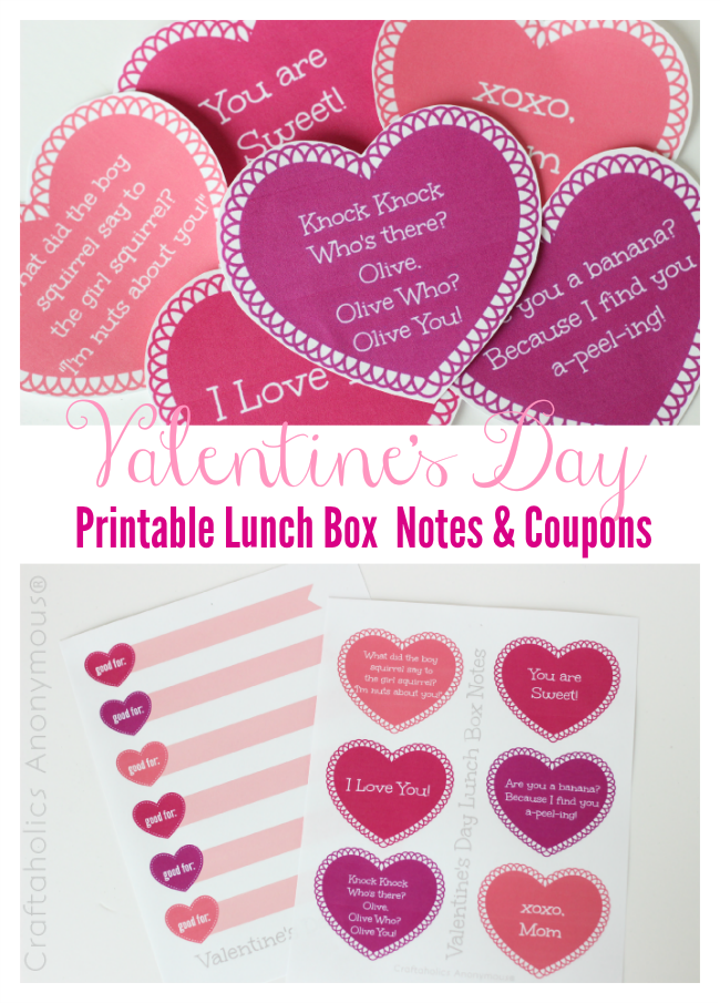 Add a smile to your child's face with these printable lunch box notes that are perfectly sized to slip into their lunch box for a fun surprise!