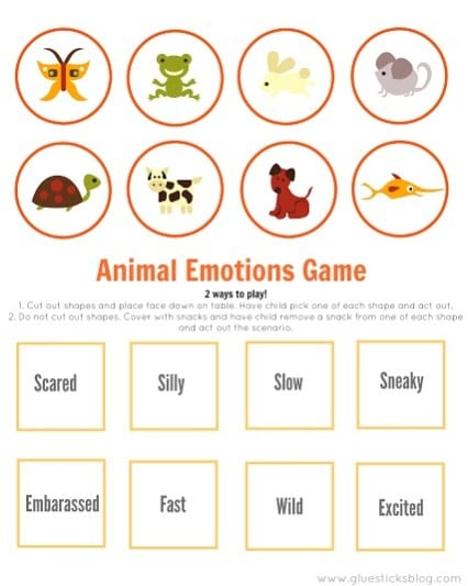 Everyday animal emotions game