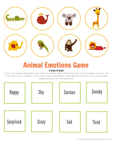 Jungle Animal Emotions Game