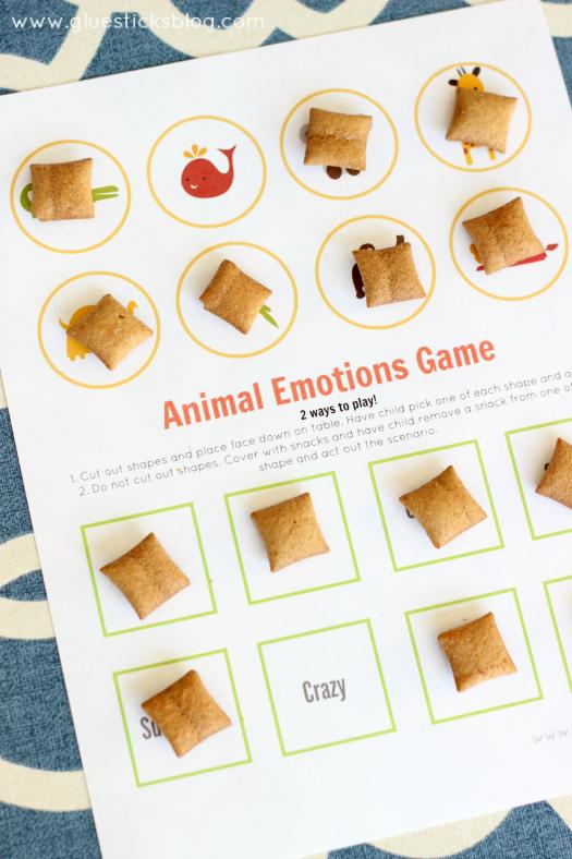 animal emotions game for kids printable