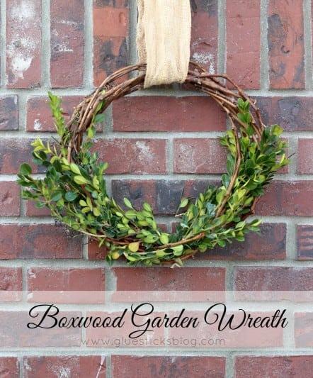 boxwood garden wreath