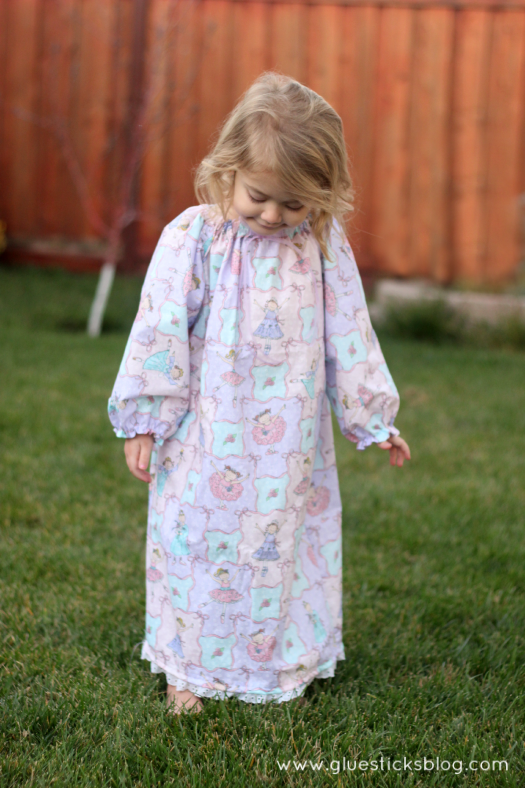 simple girls nightgown pattern