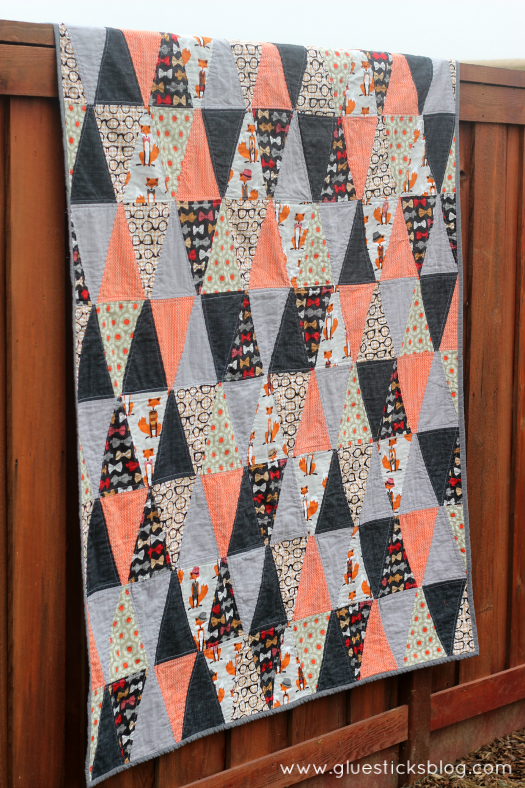 triangle fox quilt