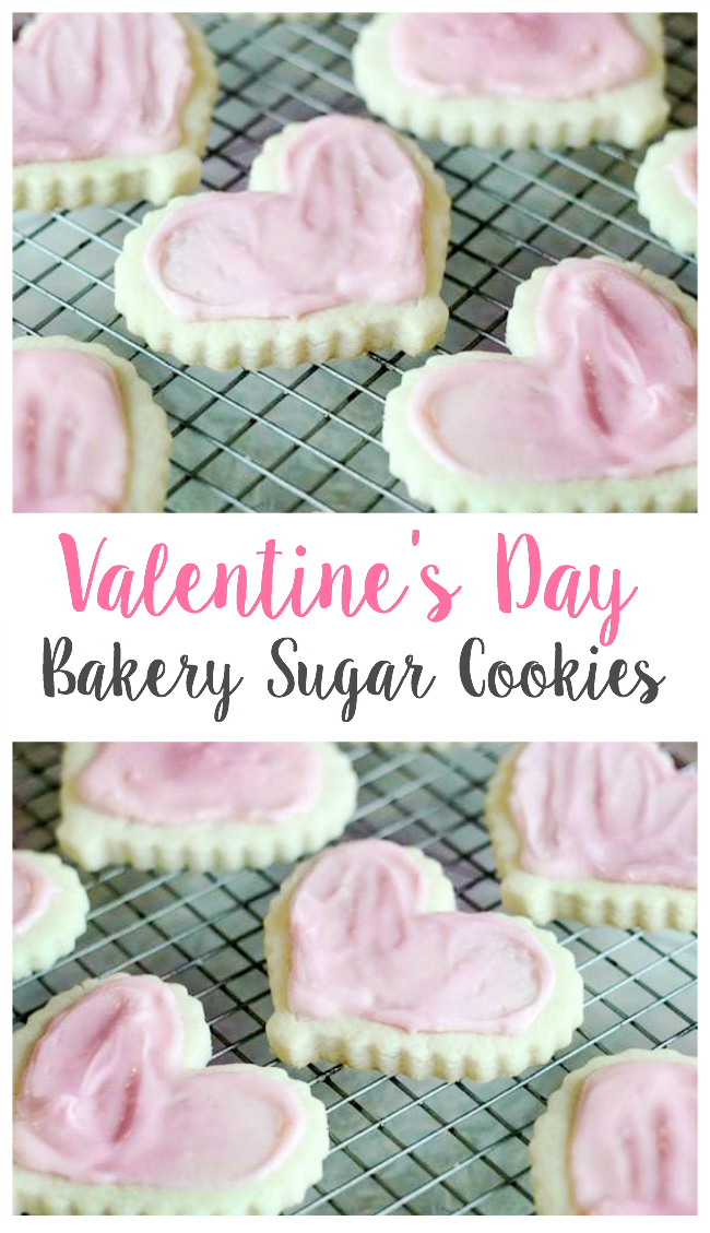 Light and buttery Valentine's cookies that hold their shape. The combination of butter and shortening and the addition of cornstarch make all the difference.