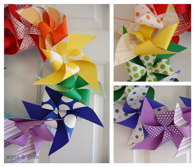 st. patrick's day rainbow pinwheel craft