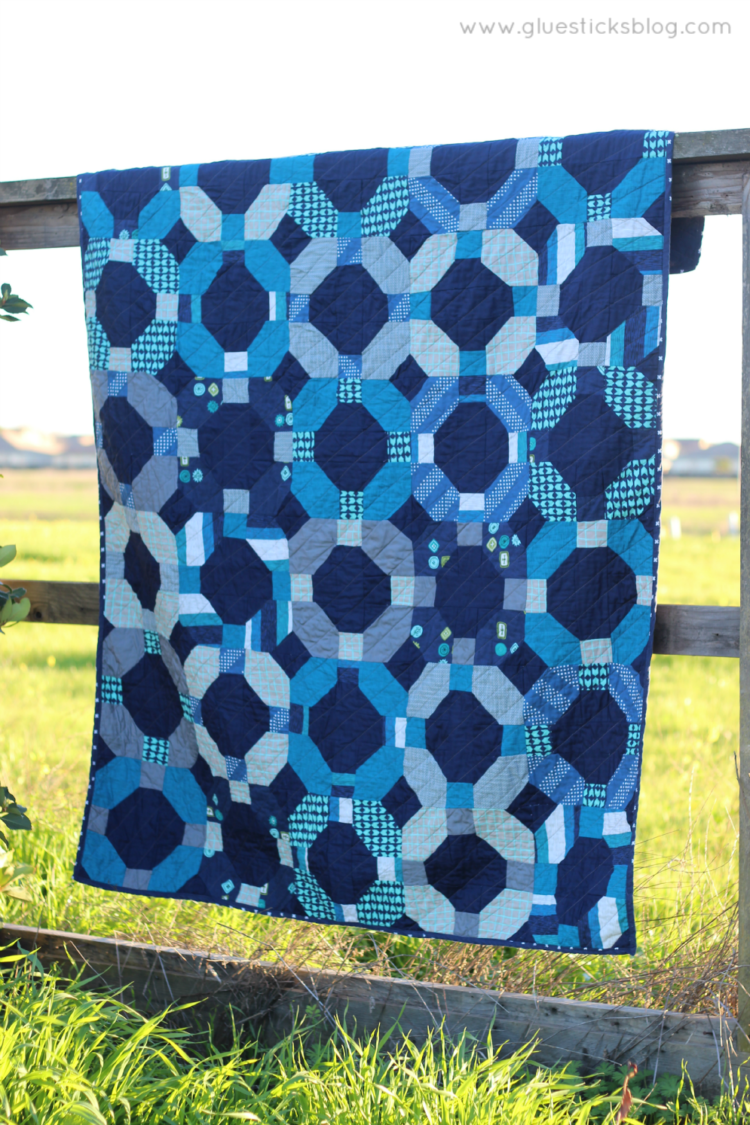 cotton steel cheerio quilt