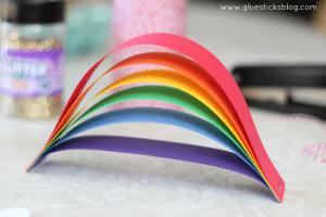 card stock rainbow