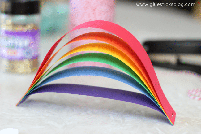 card stock rainbow