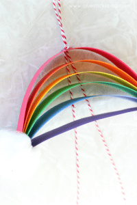 rainbow glitter craft