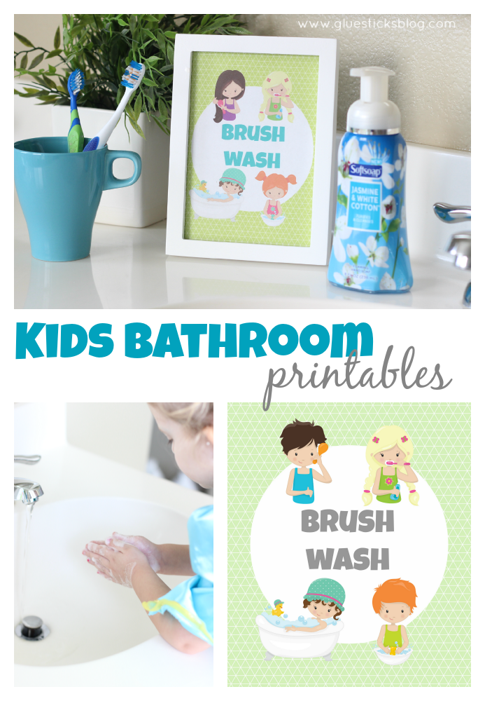 kids bathroom printables