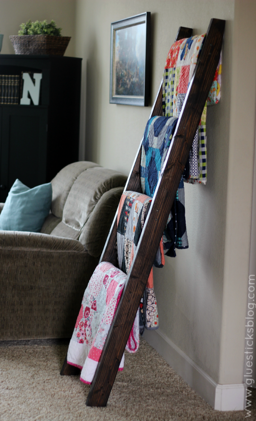 wooden quilt ladder