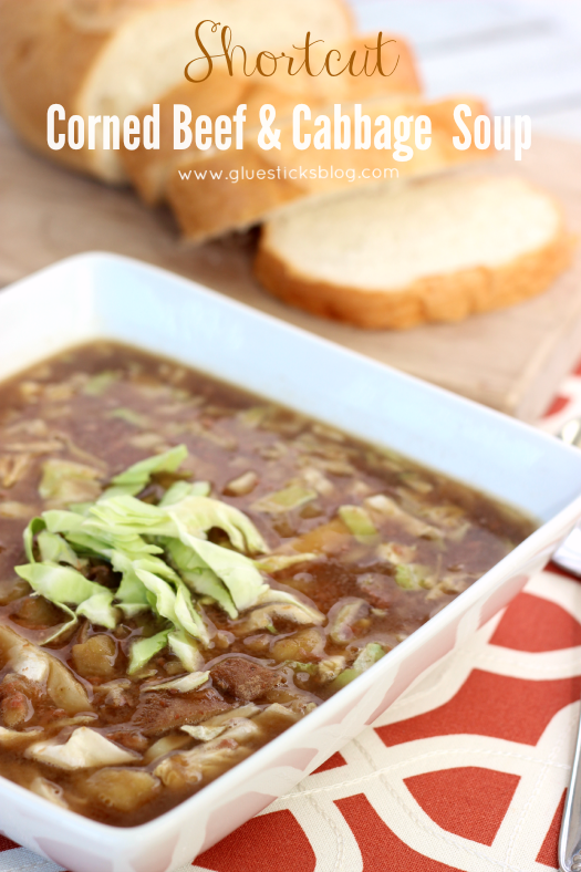 This delicious corned beef and cabbage soup recipe comes together in about about an hour, and is filling and full of flavor. A quick and easy recipe for busy weeknights.