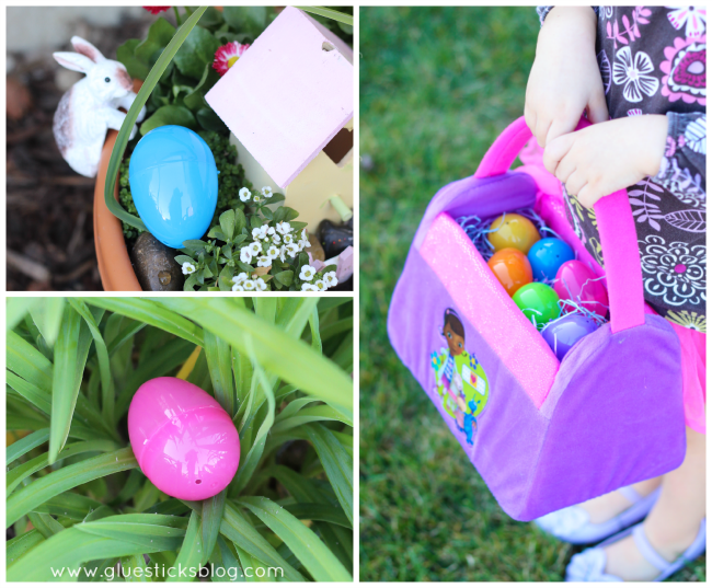 So many cute Easter basket ideas for girls who love Disney Junior and Doc McStuffins! Mini nail polish, stuffed lamb, coordinating fillers and a journal!