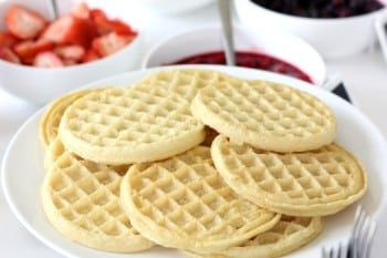 fruit and cream waffle bar
