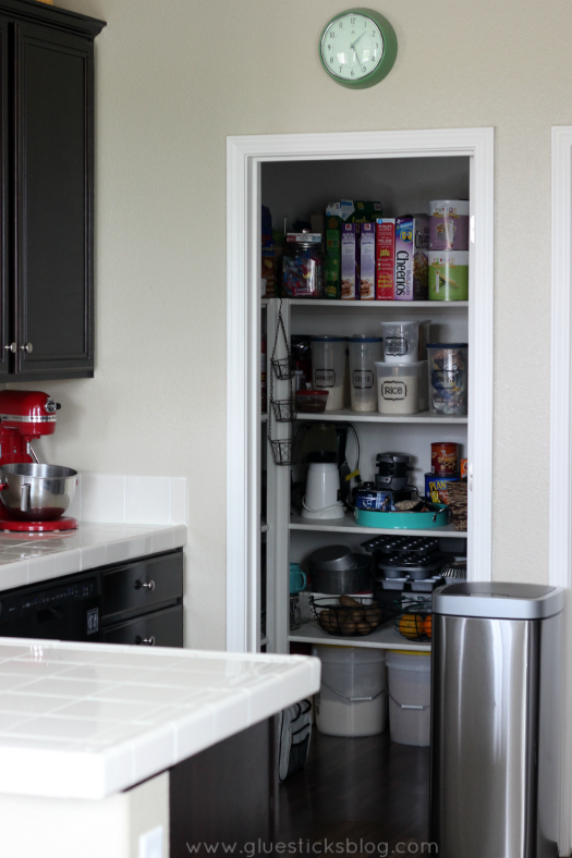 finished photo on how to organize your pantry