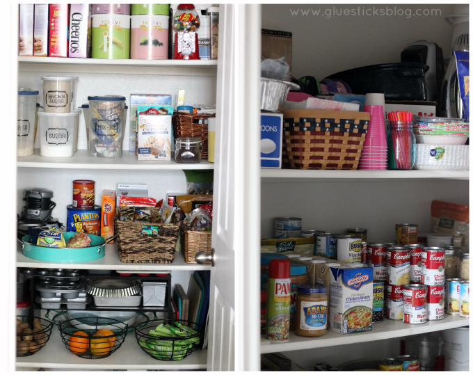 how to organize your pantry AFTER photos
