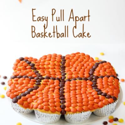 basketball pull apart cake