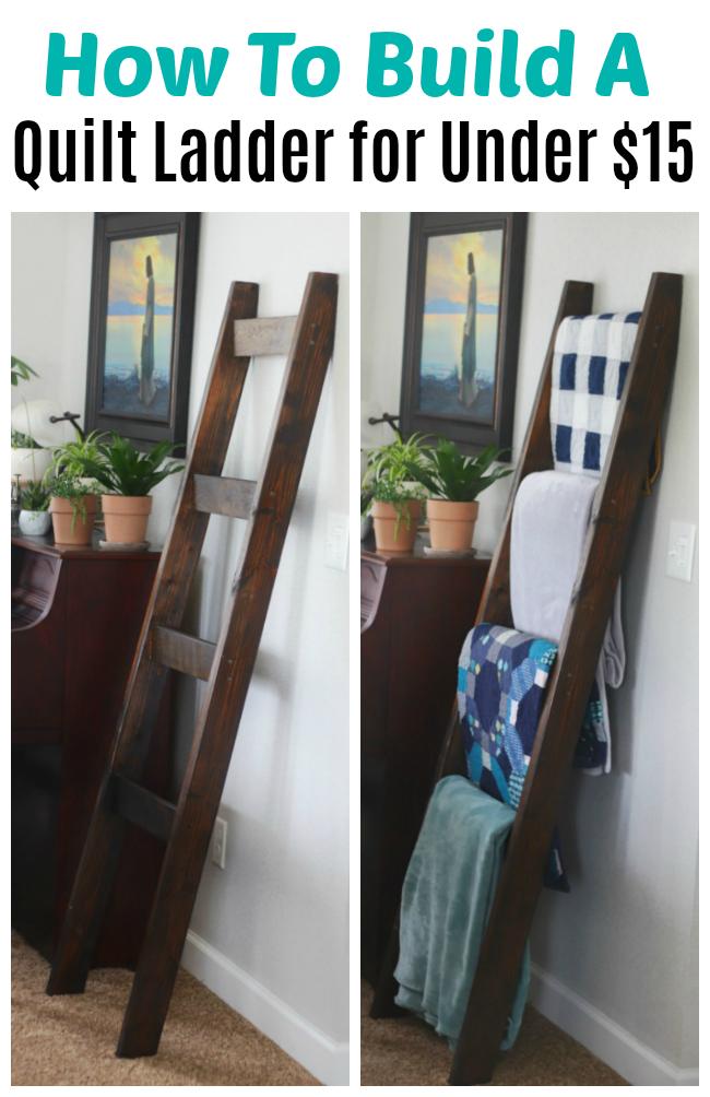 How To Make A Blanket Ladder Quilt For Under 15
