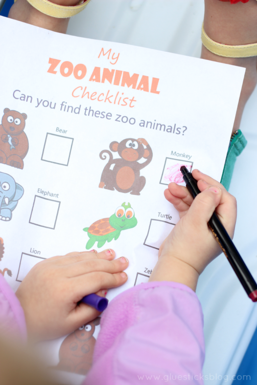 preschool zoo activities scavenger hunt
