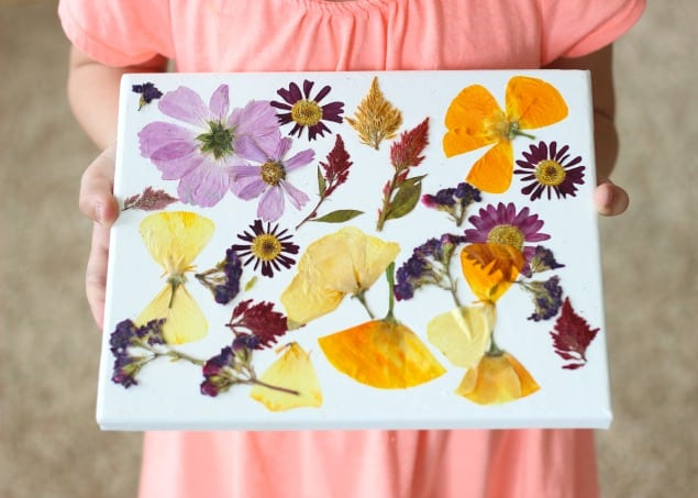 flat flower canvas