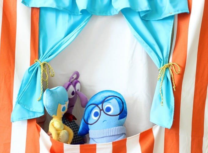 This doorway puppet theater is made to hang with a tension rod! It also folds up for easy storage and provides hours of imaginative play! Let the show begin!