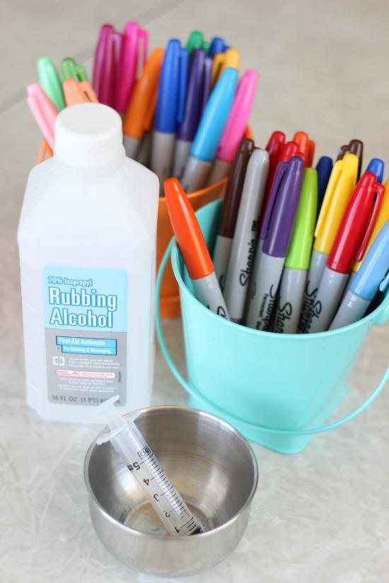 supplies for sharpie tie dye