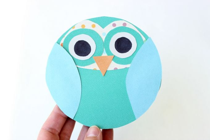 Cute Owl Greeting Card/Craft Template