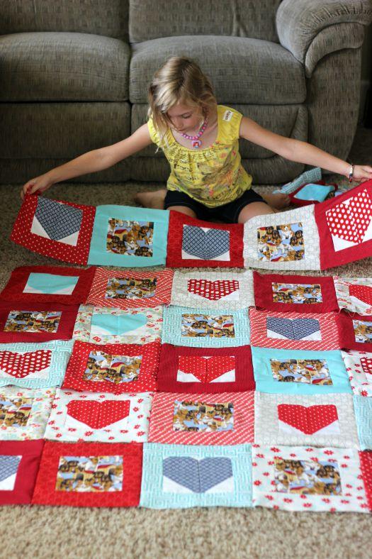 assembling quilt